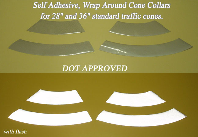 reflective traffic cone collars