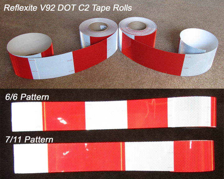 3 inch 4 inch dot c2 reflective trailer tape