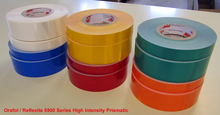 yellow high intensity prismatic reflective tape