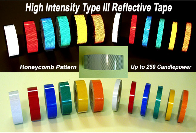 2 inch high intensity type 3 reflective tape white red green blue reflective tape aloadofball Gallery